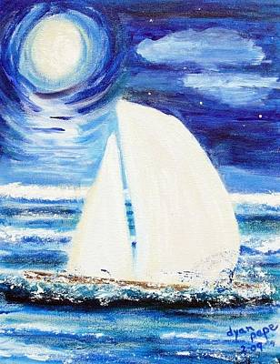 Painting - Moonlight Sail by Diane Pape