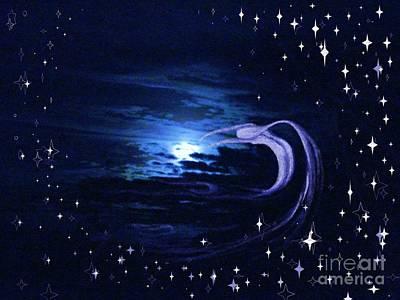 Moonlight Swim Print by Jacquelyn Roberts