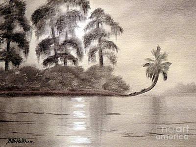 Tallahassee Painting - Moonlight Wakulla Springs by Bill Holkham