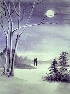 Moonlit Night Mixed Media - Moonlit Conversations by Chapi Dee