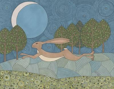 Moonlit Night Drawing - Moonlit Joy by Pamela Schiermeyer