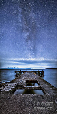 Moonlit Milky Way Print by John Farnan