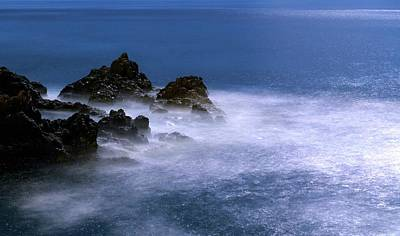 Moonlit Night Photograph - Moonlit Waves by Babak Tafreshi