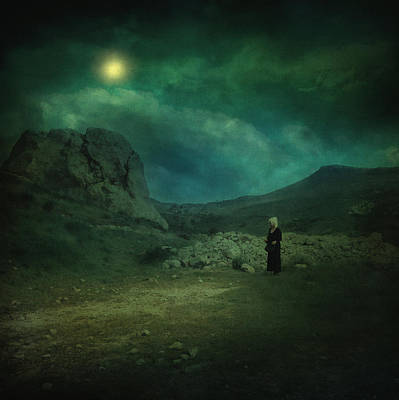Moonlit Night Photograph - Moonloop by Taylan Soyturk