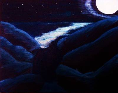 Andrew Jackson Painting - Moonrise by Andrew Jackson
