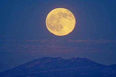 Moonlit Night Photograph - Moonrise by Juan Carlos Casado (starryearth.com)