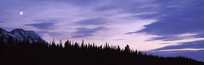 Moonrise Mt Moran Grand Teton National Print by Panoramic Images