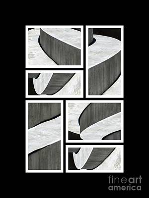 Moonscapes. Abstract Photo Collage 01 Print by Ausra Huntington nee Paulauskaite