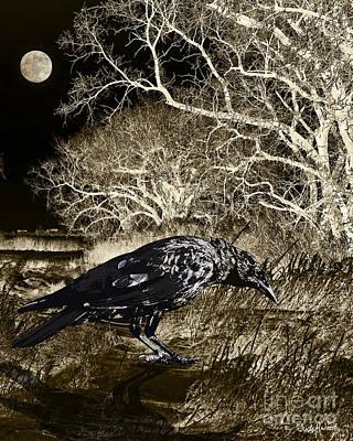 Judy Wood Digital Art - Moonshadow by Judy Wood