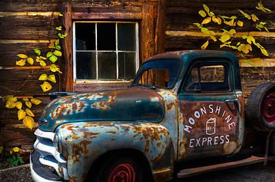 Moonshine Express Print by Debra and Dave Vanderlaan