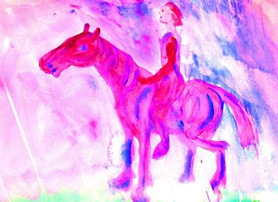 Free Will Painting - They Were Ready For The Moonshine Ride by Hilde Widerberg