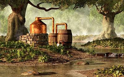 Moonshine Still 1 Print by Daniel Eskridge