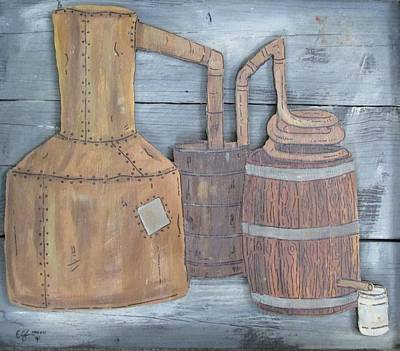 Sutton Painting - Moonshine Still by Eric Cunningham