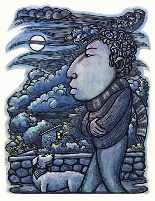 Moonwalk Print by Ricardo Levins Morales