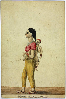 Moor Woman And Child Print by British Library