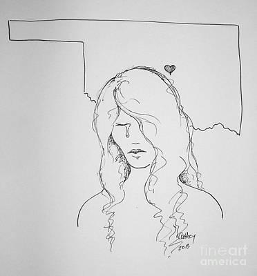 Tornado Drawing - Moore Oklahoma by Catherine Howley