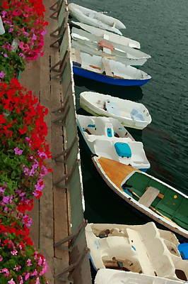 Rowboat Mixed Media - Moored by Tamyra Crossley