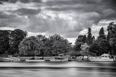 Moored Up Print by Neville Barber