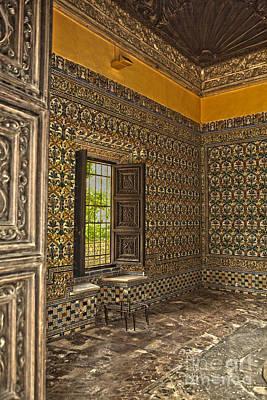 Ceramics Digital Art - Moorish Room Inside The Alcazar Reales by Patricia Hofmeester