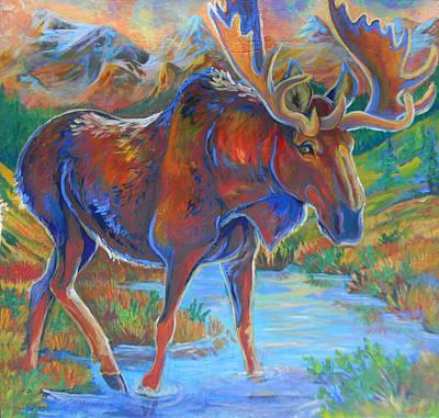 Moose Print by Jenn Cunningham