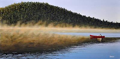 Moose Lake Paddle Print by Kenneth M  Kirsch