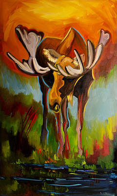 Painting - Moose Pond by Diane Whitehead