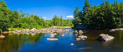 Urban Scenes Photograph - Moose River In The Adirondack by Panoramic Images