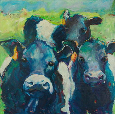 Oreo Painting - Moove Over by Sue Scoggins