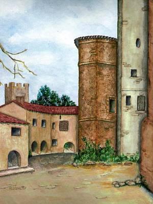 Italian Landscape Mixed Media - Morcone  by Pamela Allegretto