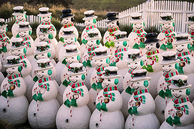 More Snowmen Print by Garry Gay
