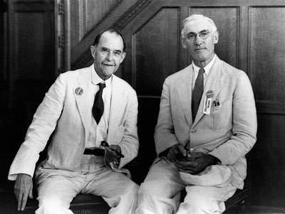 Harvard Photograph - Morgan And Emerson by American Philosophical Society