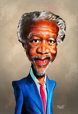 Morgan Freeman Print by Anthony Mwangi