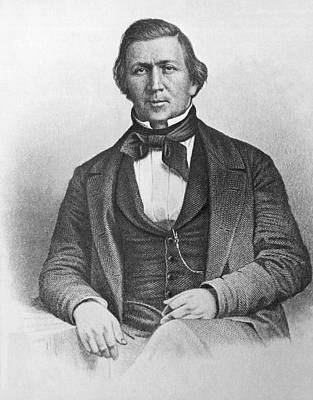 Religious Art Photograph - Mormon Leader Brigham Young by Underwood Archives