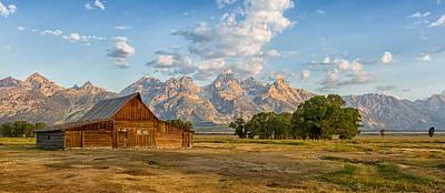 Bison Photograph - Mormon Row Farm by Andres Leon