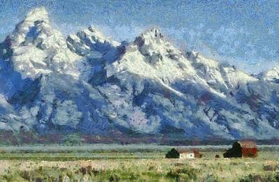 Mormon Row Historic District Grand Tetons Print by Dan Sproul