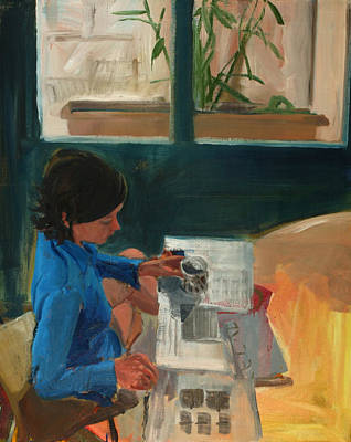 Interior Morning Painting - Morning by Daniel Clarke