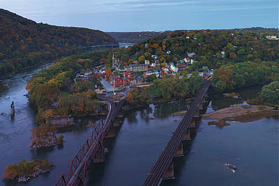 Mountain Photograph - Morning At Harpers Ferry by Metro DC Photography
