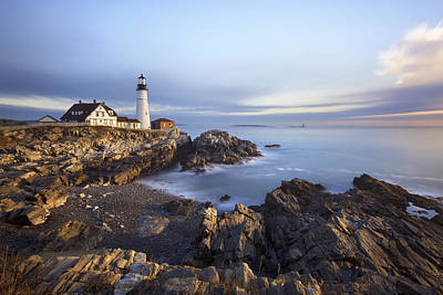Morning At Portland Head Print by Eric Gendron