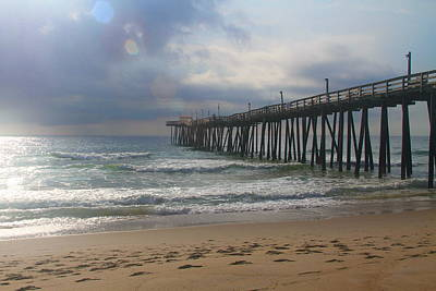 Obx Photograph - Morning At Rodanthe Pier 11 by Cathy Lindsey