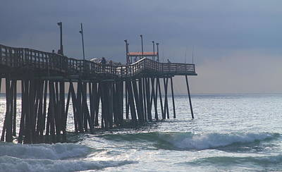 Calm Photograph - Morning At Rodanthe Pier 2 by Cathy Lindsey