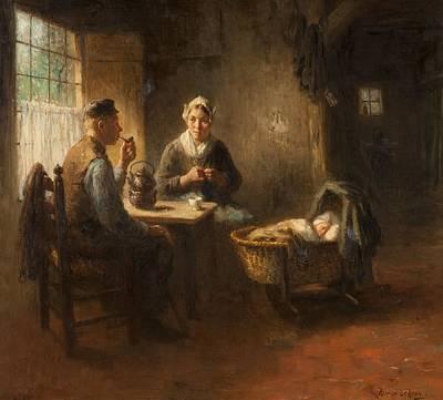 Interior Morning Painting - Morning by Bernard de Hoog