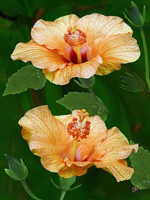 Morning Blooms - Hibiscus Original by Ben and Raisa Gertsberg