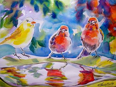 Painting - Morning Chat by Therese Fowler-Bailey