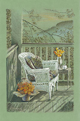 Morning Coffee At The Piedmont Inn Print by Jill Westbrook