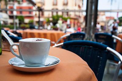 Morning Cup Of Coffee By Zina Zinchik Print by Zina Zinchik