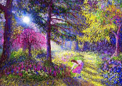 Park Scene Painting - Morning Dew by Jane Small