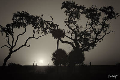 Morning Eclipse In Sepia Print by Phill Doherty