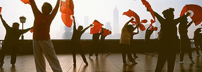 Morning Exercise, The Bund, Shanghai Print by Panoramic Images
