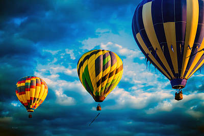 Morning Flight Hot Air Balloons Print by Bob Orsillo