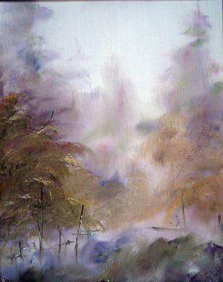 Morning Fog Print by Alena Samsonov